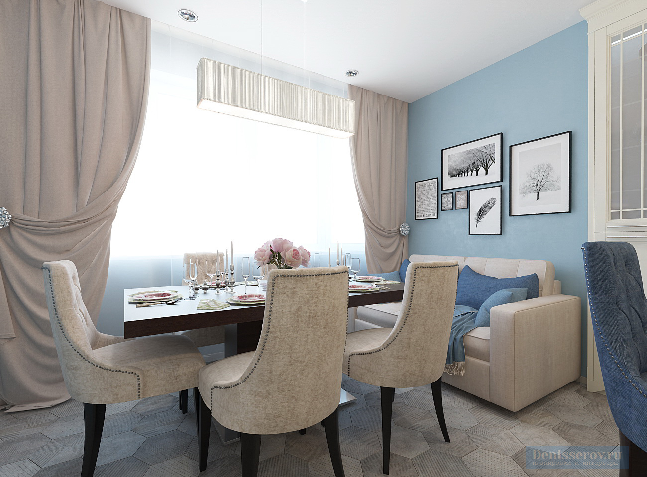 Dizajn-kuhni-stolovoj-v-klassicheskom-stile-25-kv-m-5