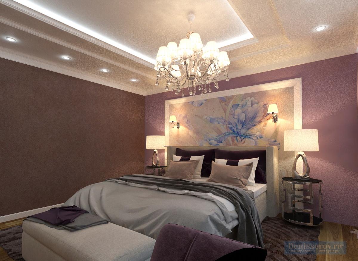 Dizajn-spalni-v-klassicheskom-stile-v-sirenevom-cvete-1