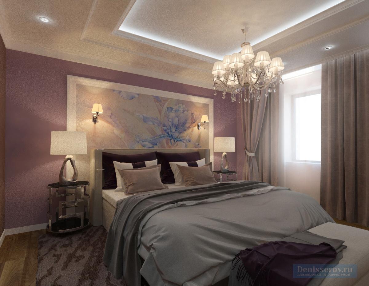 Dizajn-spalni-v-klassicheskom-stile-v-sirenevom-cvete-3