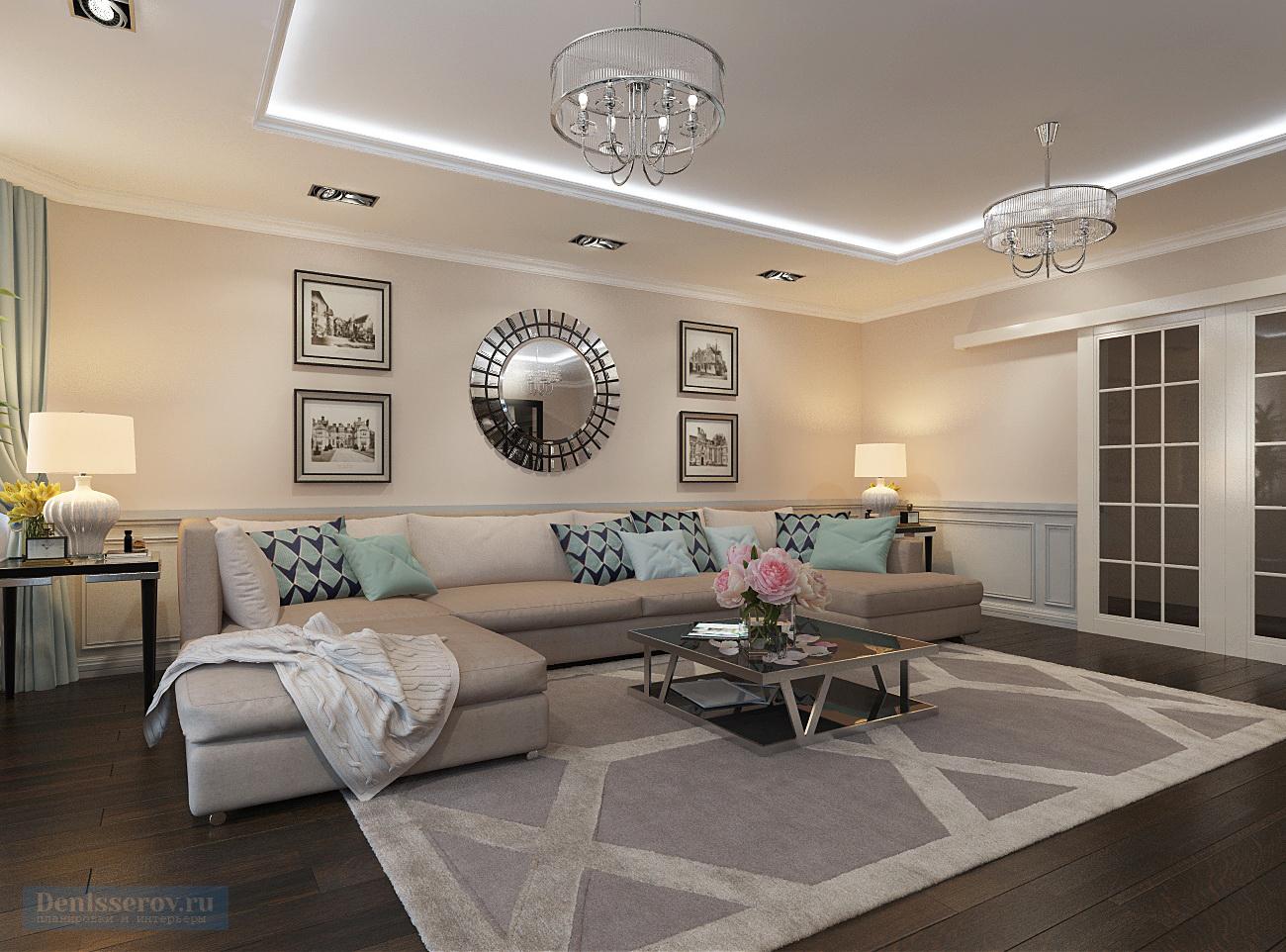 Дизайн квартир 40 квм в классическом стиле