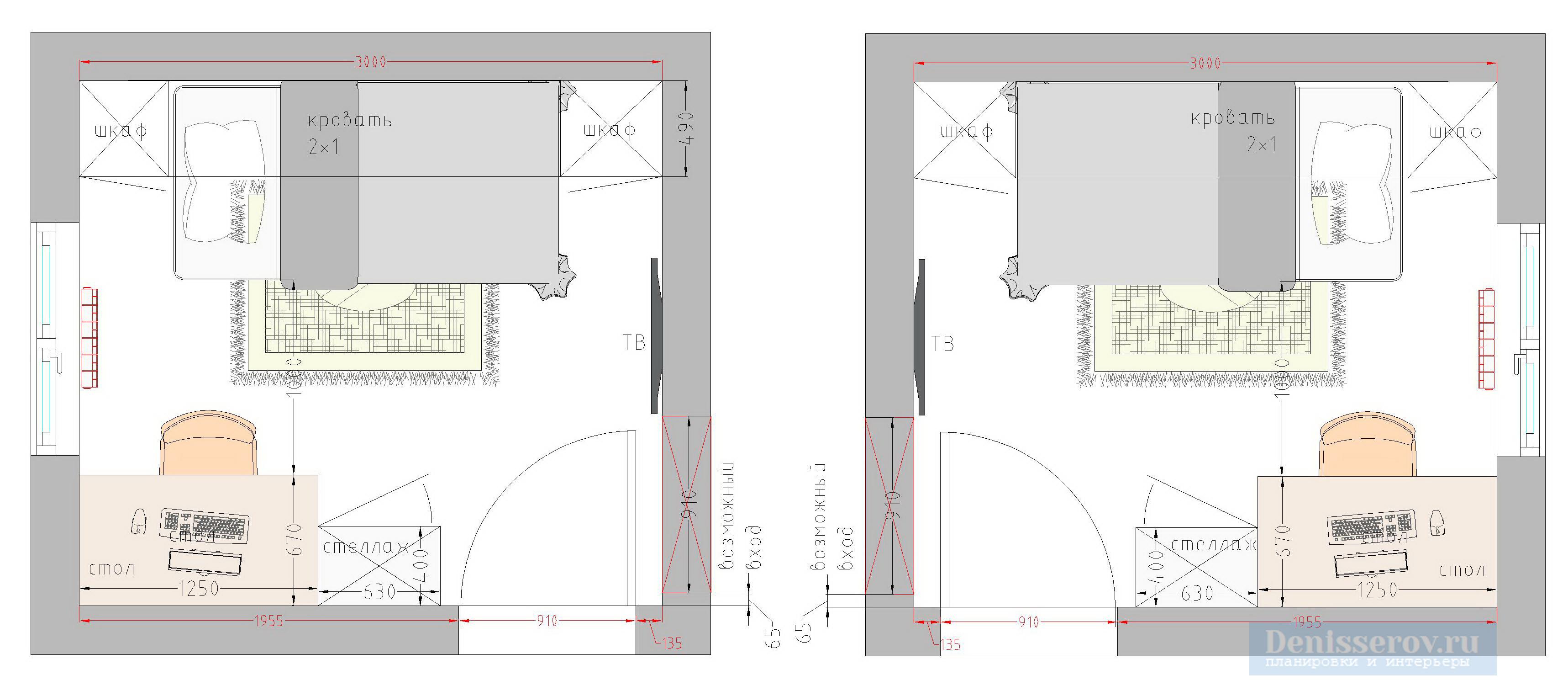 Планировка детской комнаты 8 кв м с фото и размерами
