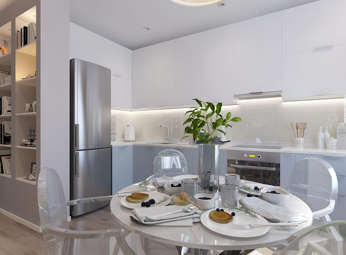 Дизайн-проект однокомнатной квартиры 49 кв.м. в Санкт-Петербурге.