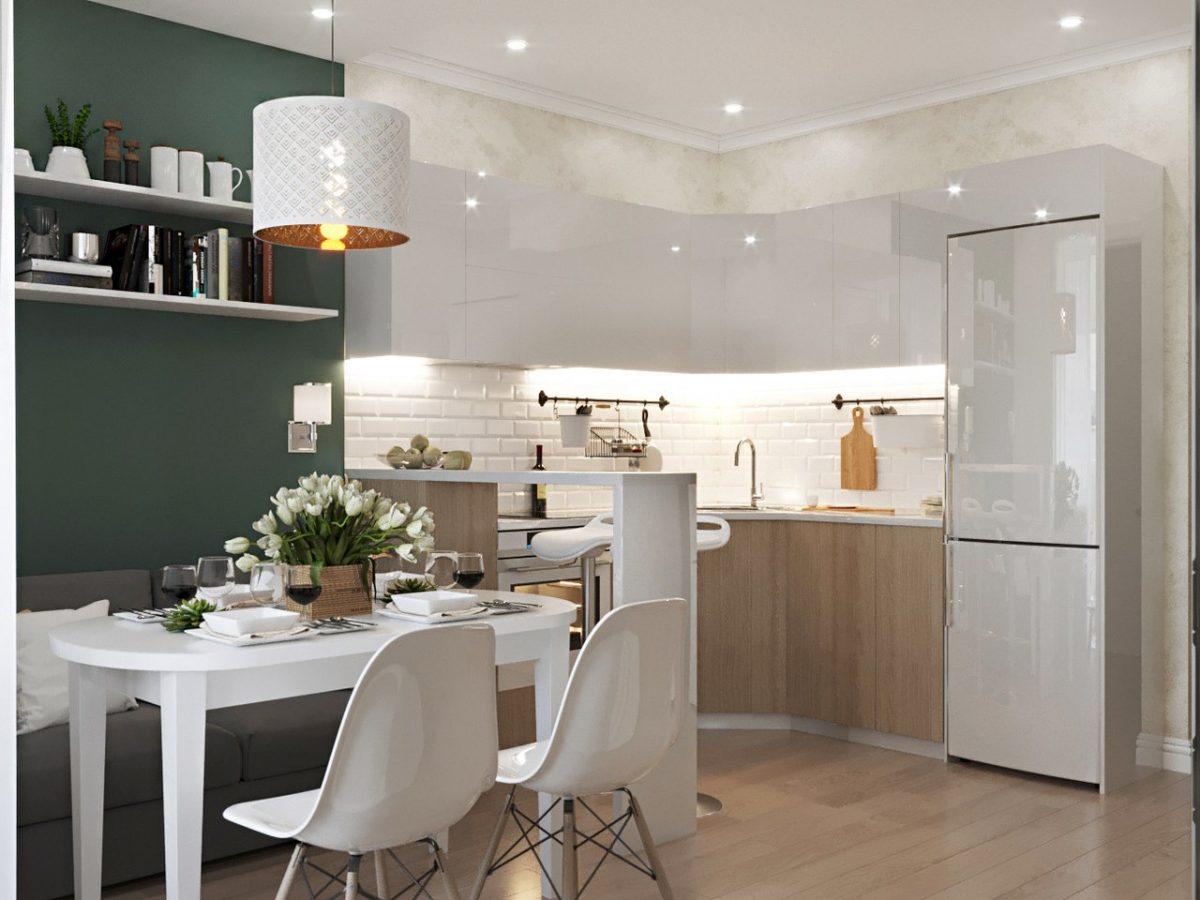 Дизайн проект однокомнатной квартиры 44 кв.м.