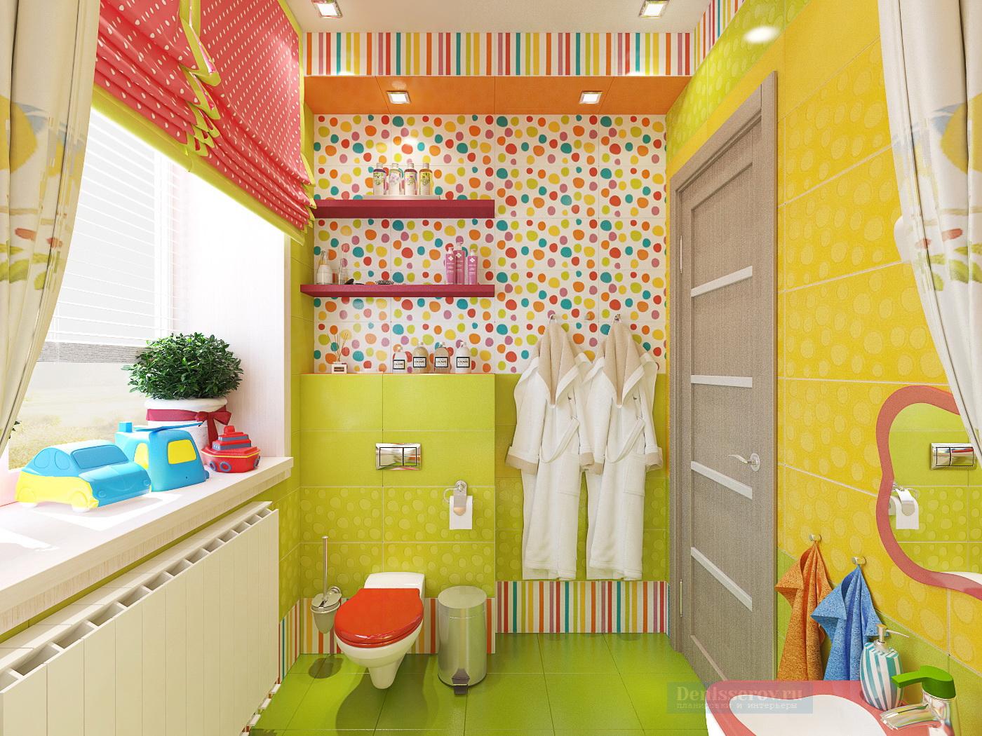 дизайн ванной комнаты детской 5 кв.м.