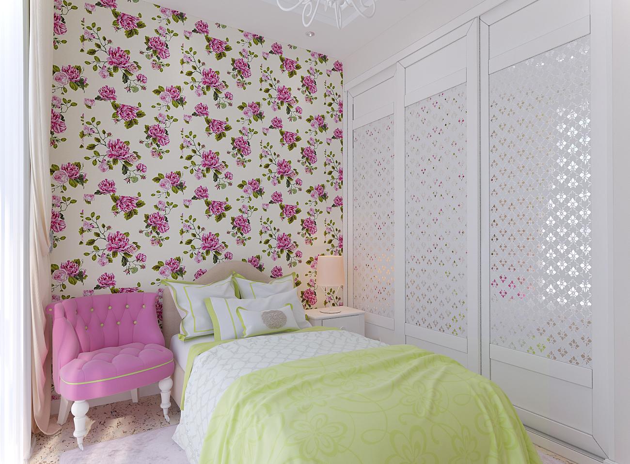 Дизайн детской комнаты для девочки 14 кв.м.