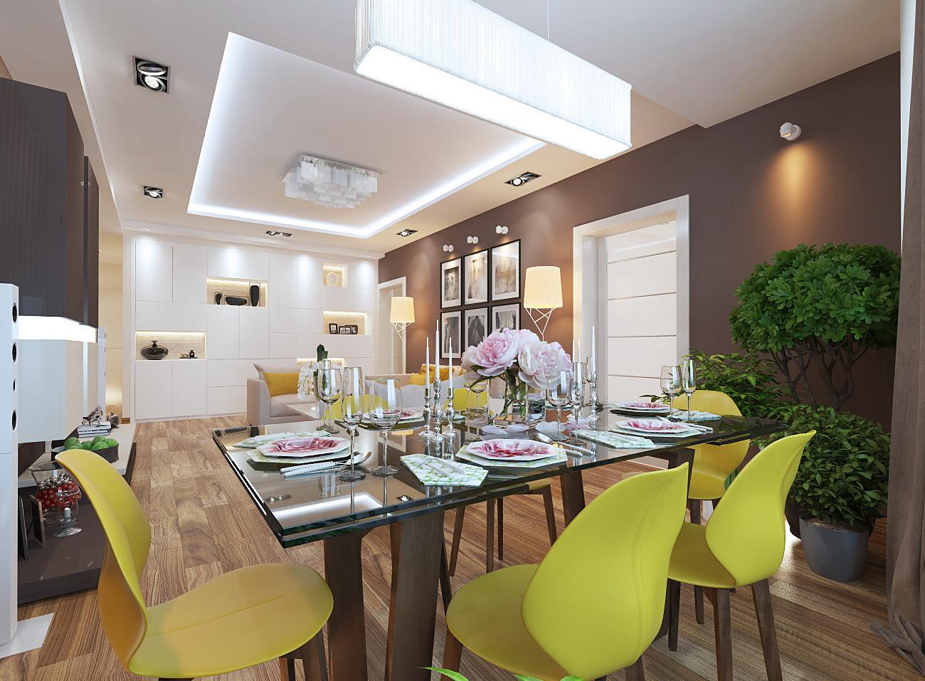 дизайн гостиной 30 кв.м. в современном стиле