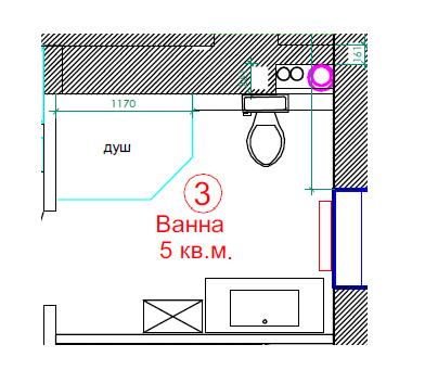 Планировка ванной комнаты 5 кв.м.