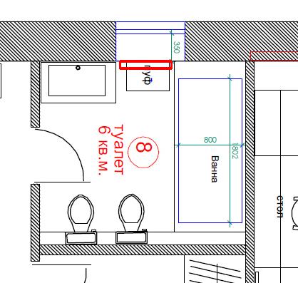 Планировка ванной комнаты 6 кв.м.