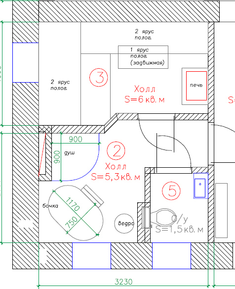 планировка ванна 5 кв.м.