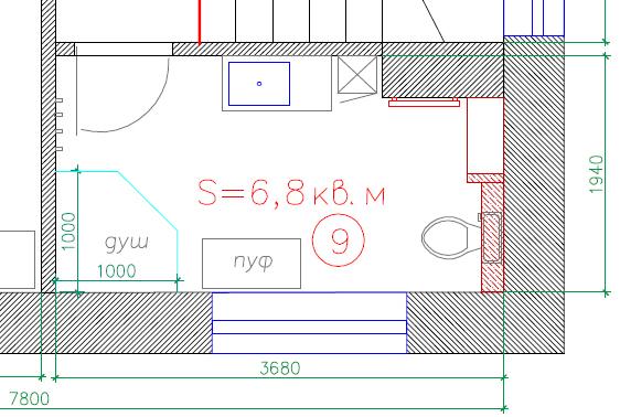 Планировка ванной комнаты 6.5 кв.м.