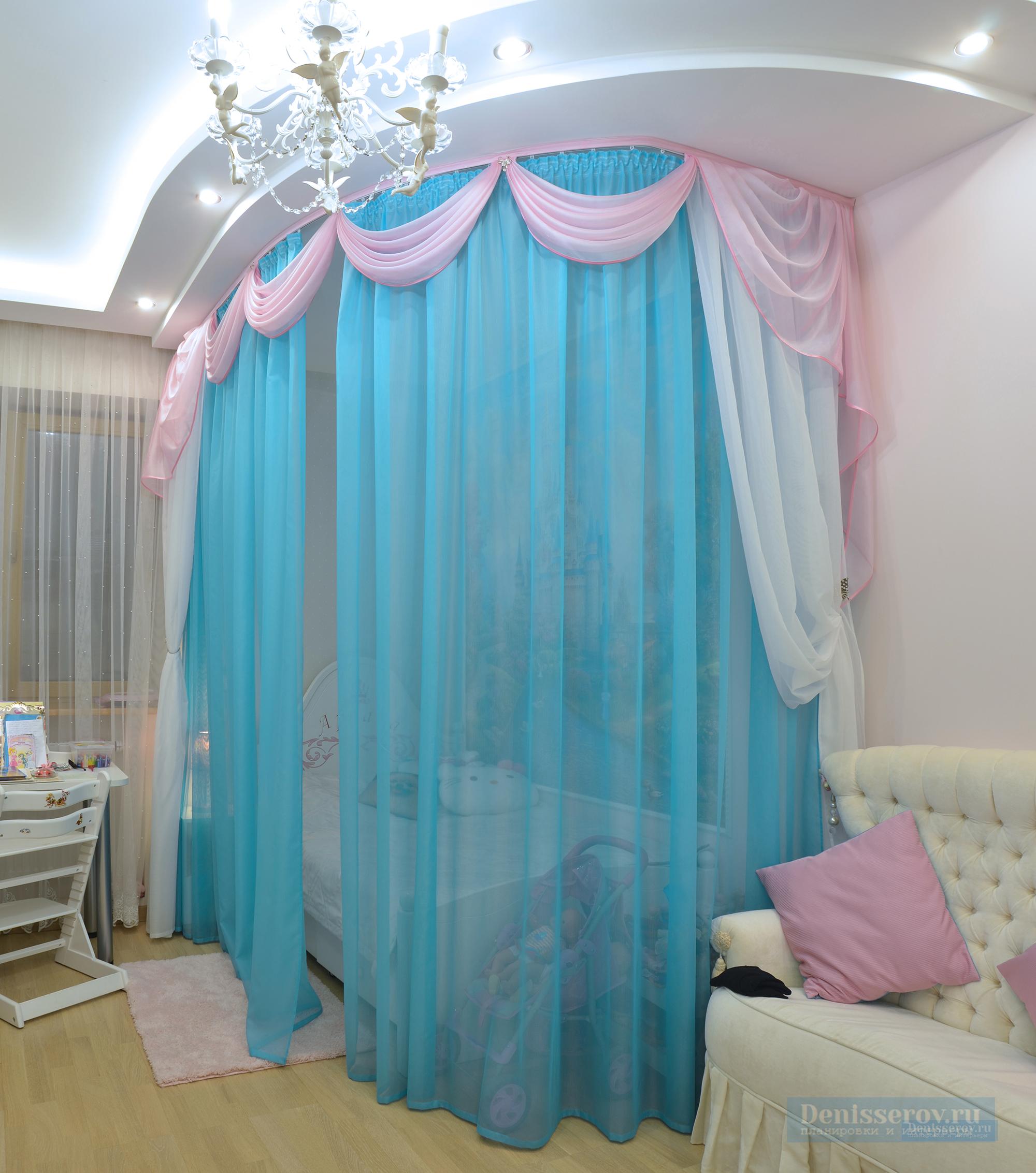 Дизайн-проект детской комнаты 16 кв.м. для девочки