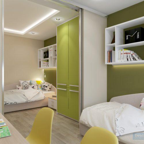 Дизайн детской комнаты 18 кв.м. для двух детей
