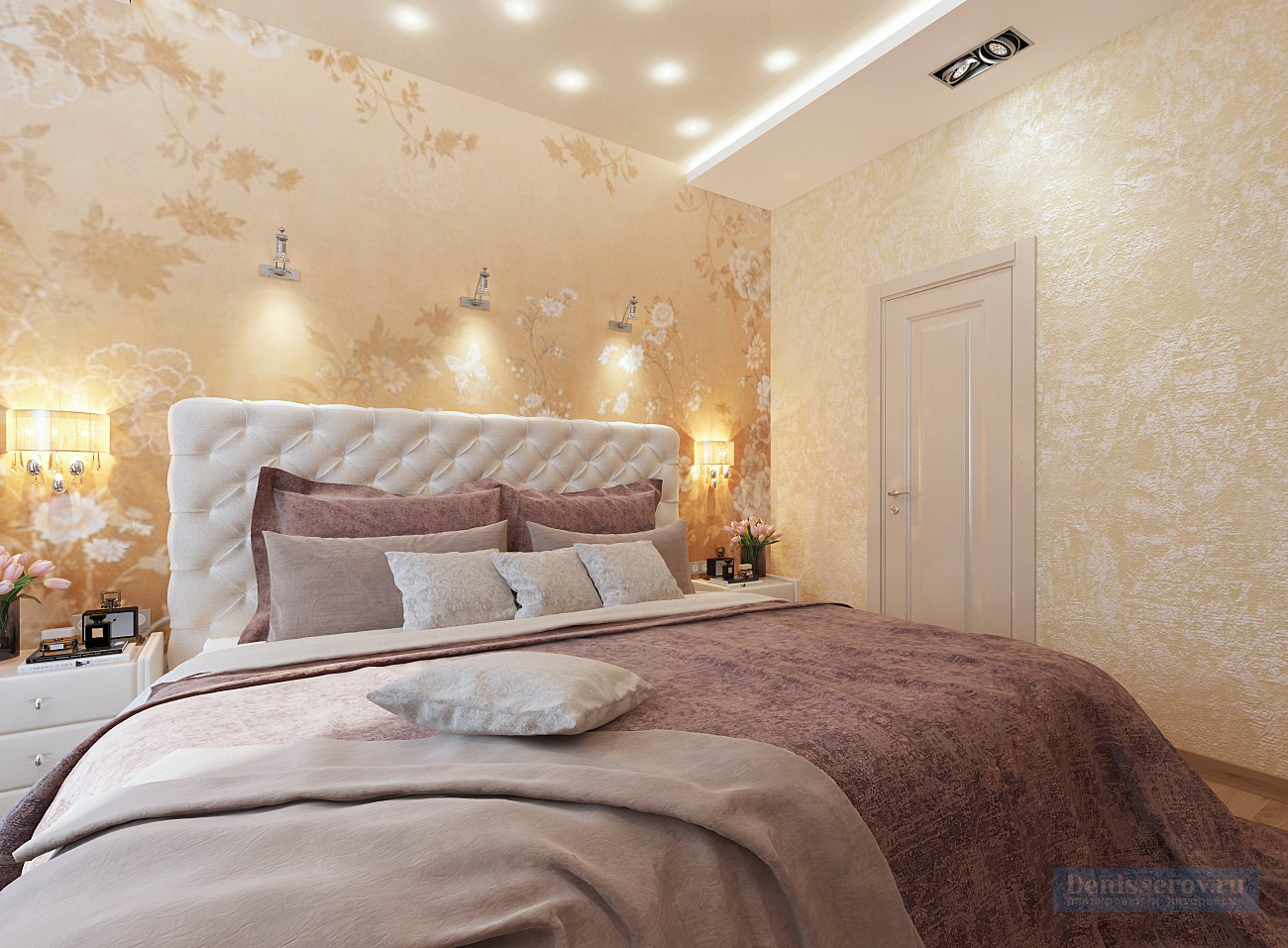 дизайн спальни 18 кв.м.