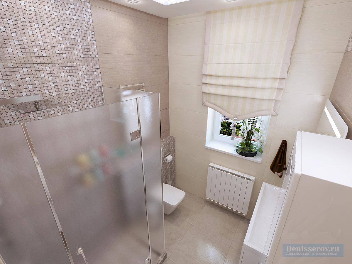 дизайн проект ванной 5 кв.м.