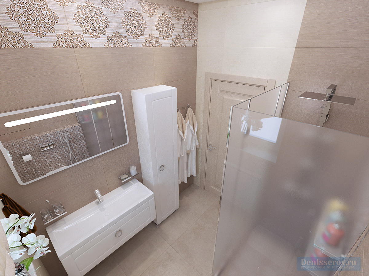 Дизайн ванной комнаты 5 кв.м.