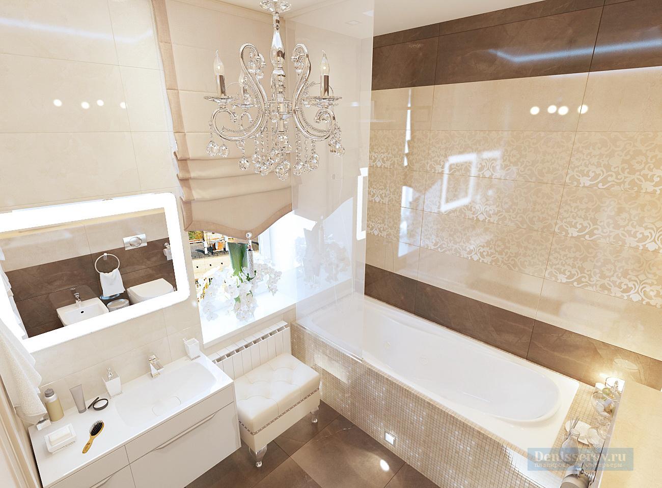 дизайн проект ванной 6 кв.м.