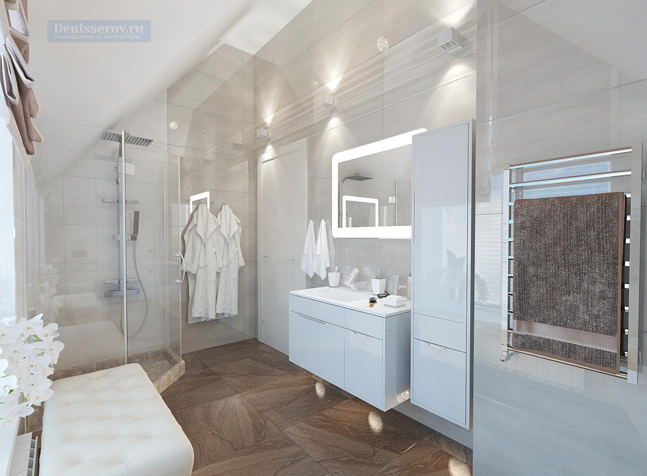 дизайн проект ванной 6.5 кв.м.