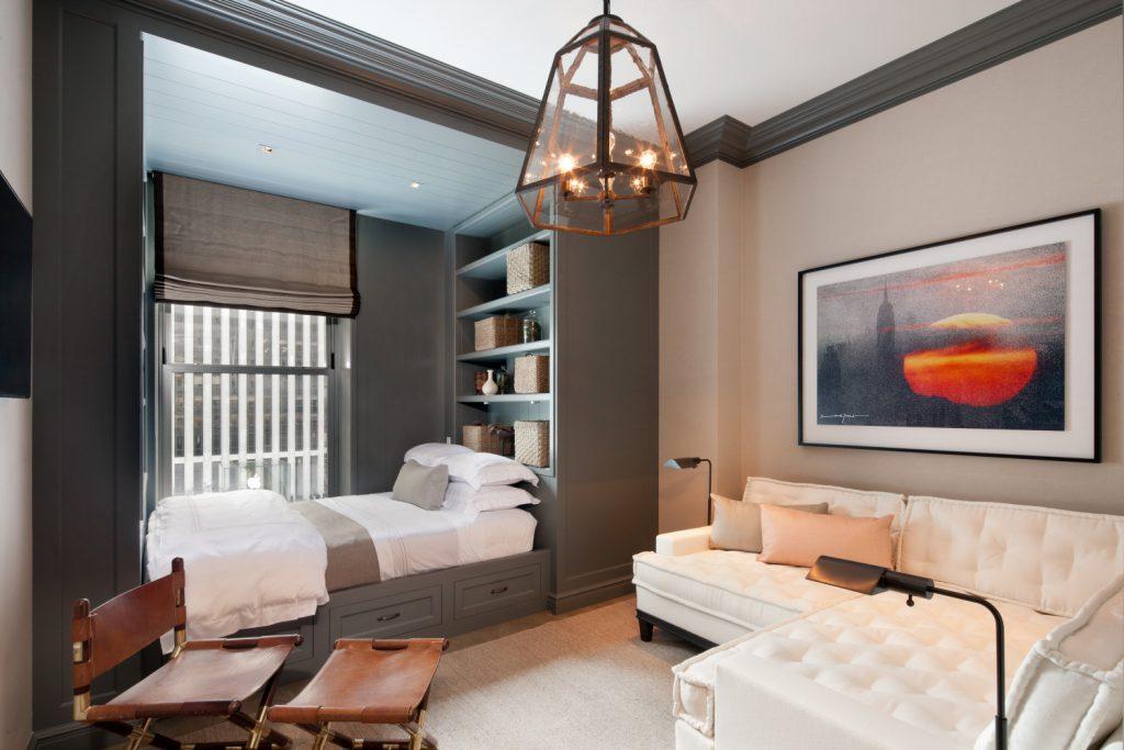 Спальня и зал в одной комнате дизайн