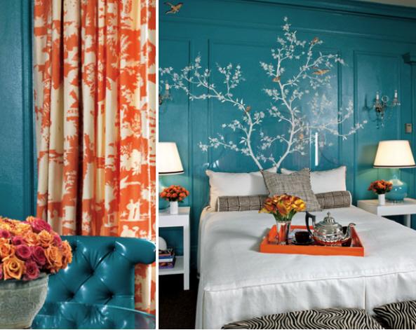 Коралловый цвет в интерьере квартиры с фото