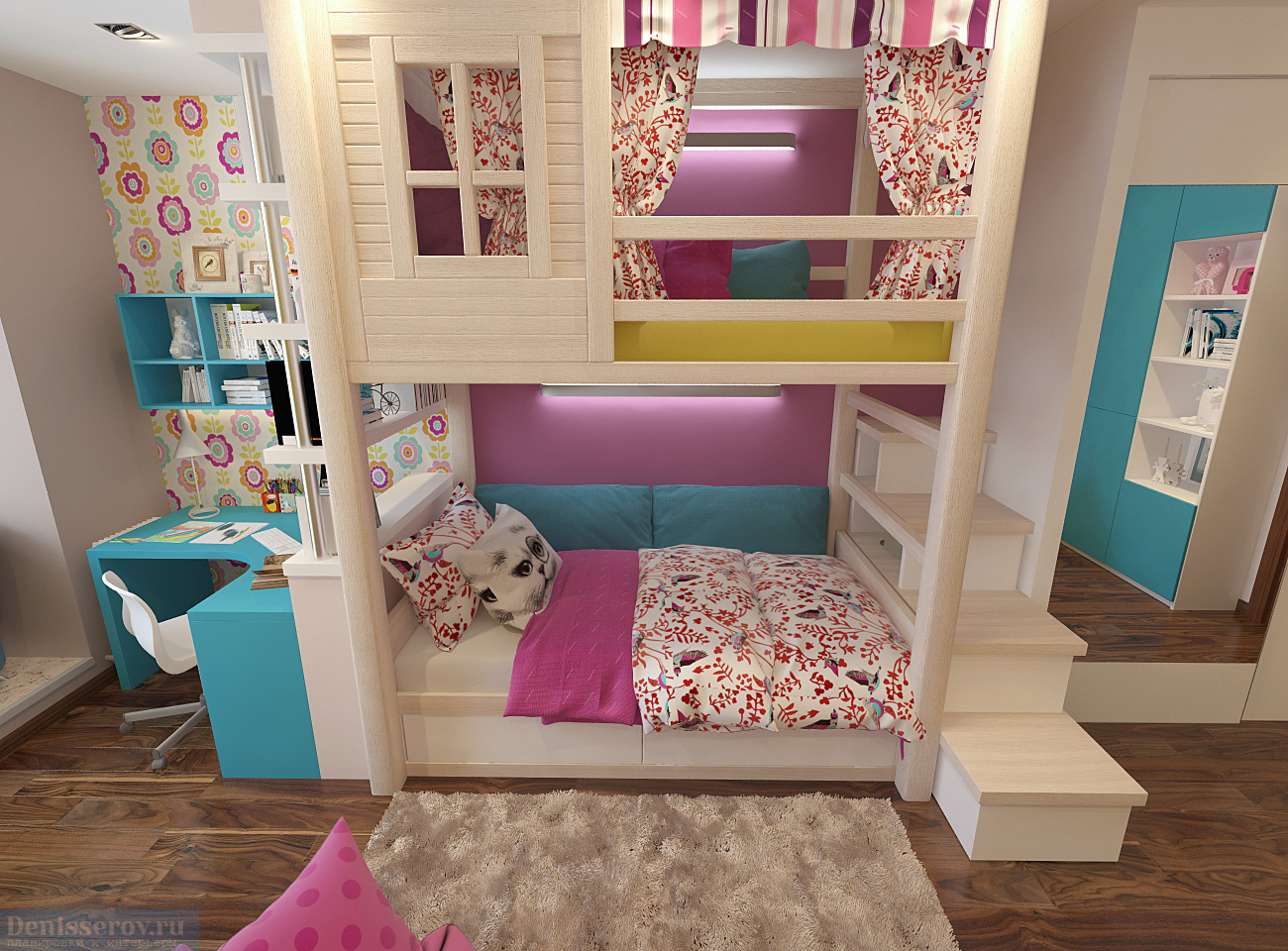 Двухъярусная кровать в детскую комнату, все «за» и «против»