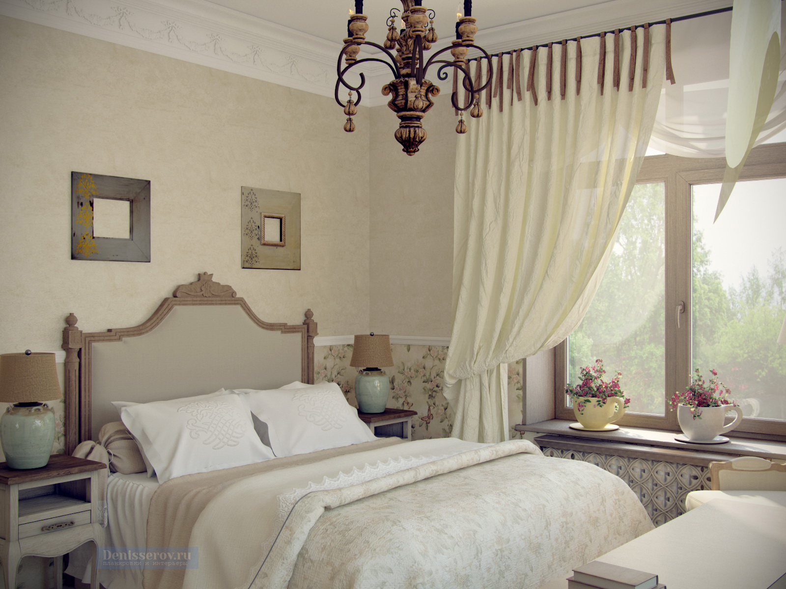 Спальня в стиле прованс с фотографиями проектов