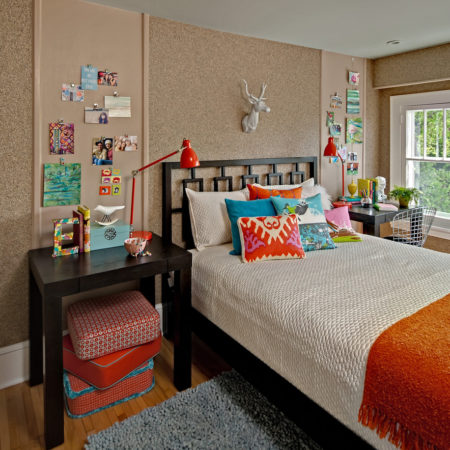 cork-board-wall-Kids-Contemporary-with-area-rug-artwork-Bedroom