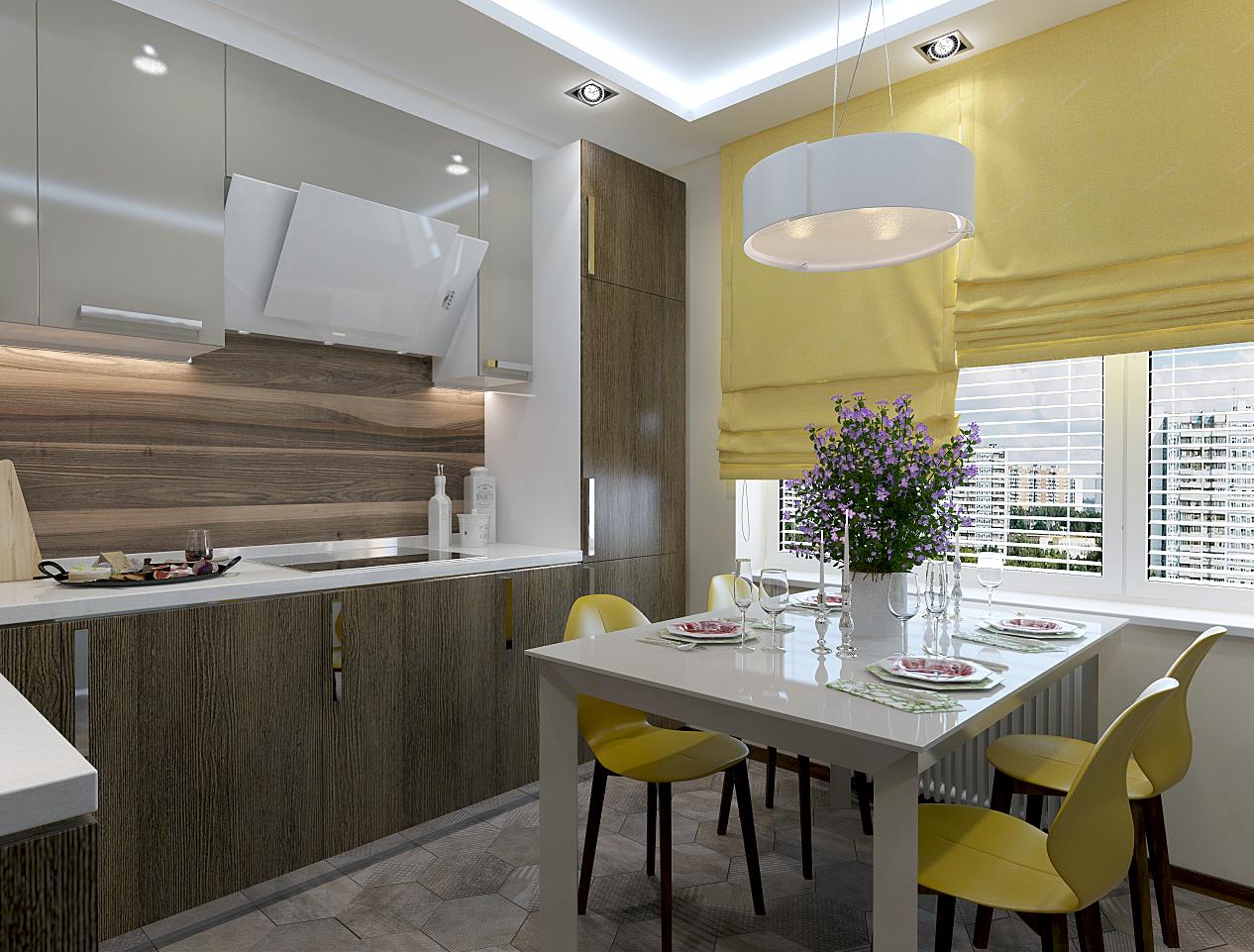 Дизайн-проект кухни в доме серии п-44