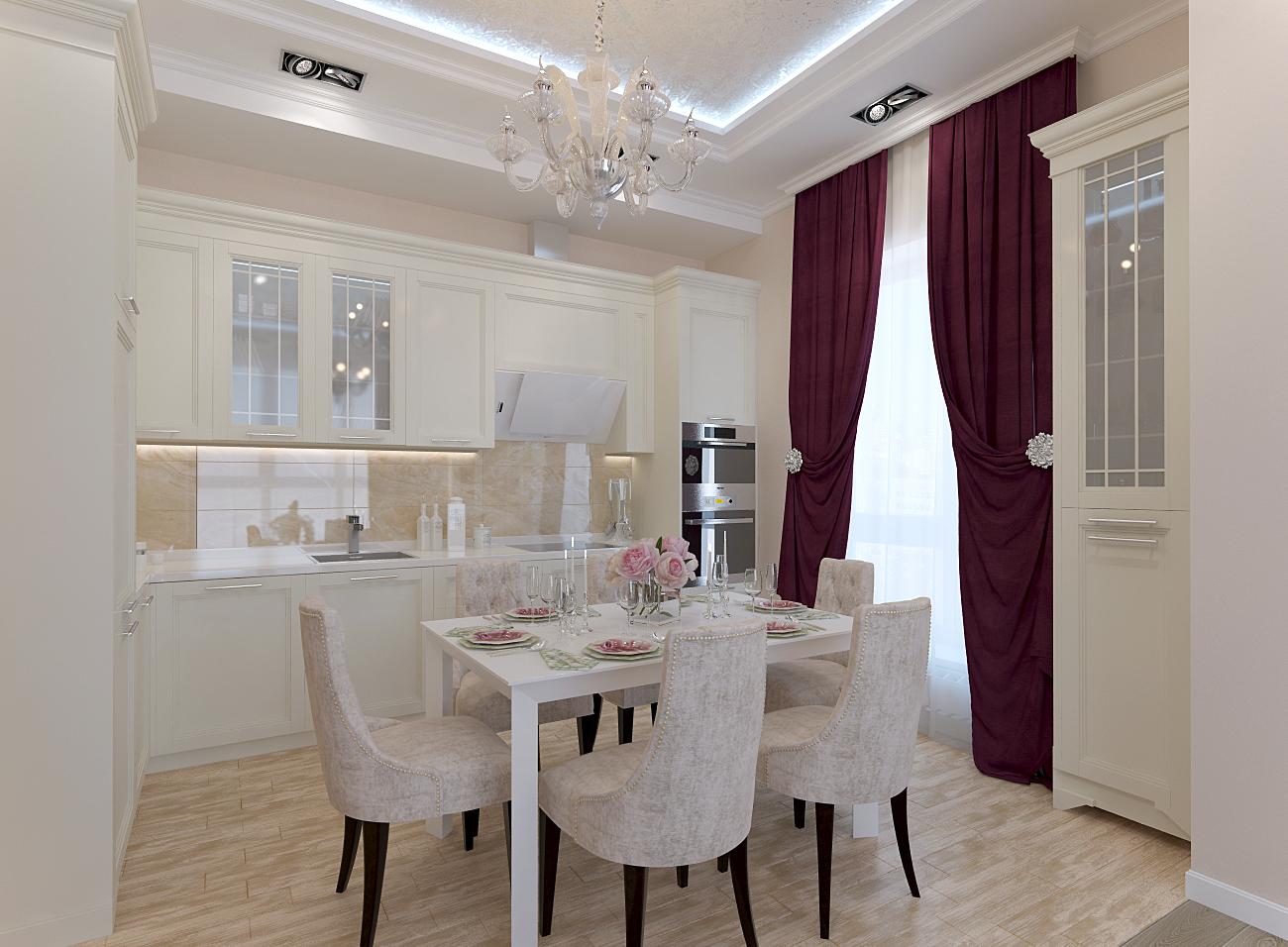 кухня гостиная 30 кв.м.