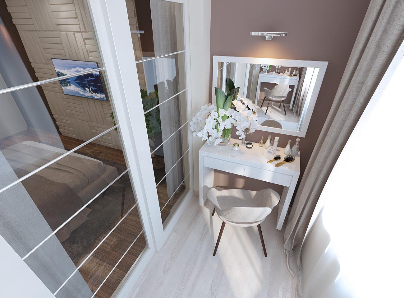 Дизайн проект интерьера спальни 14 кв.м. в современном стиле.