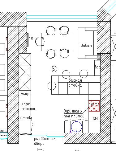 планировка кухни столовой 20 кв.м.
