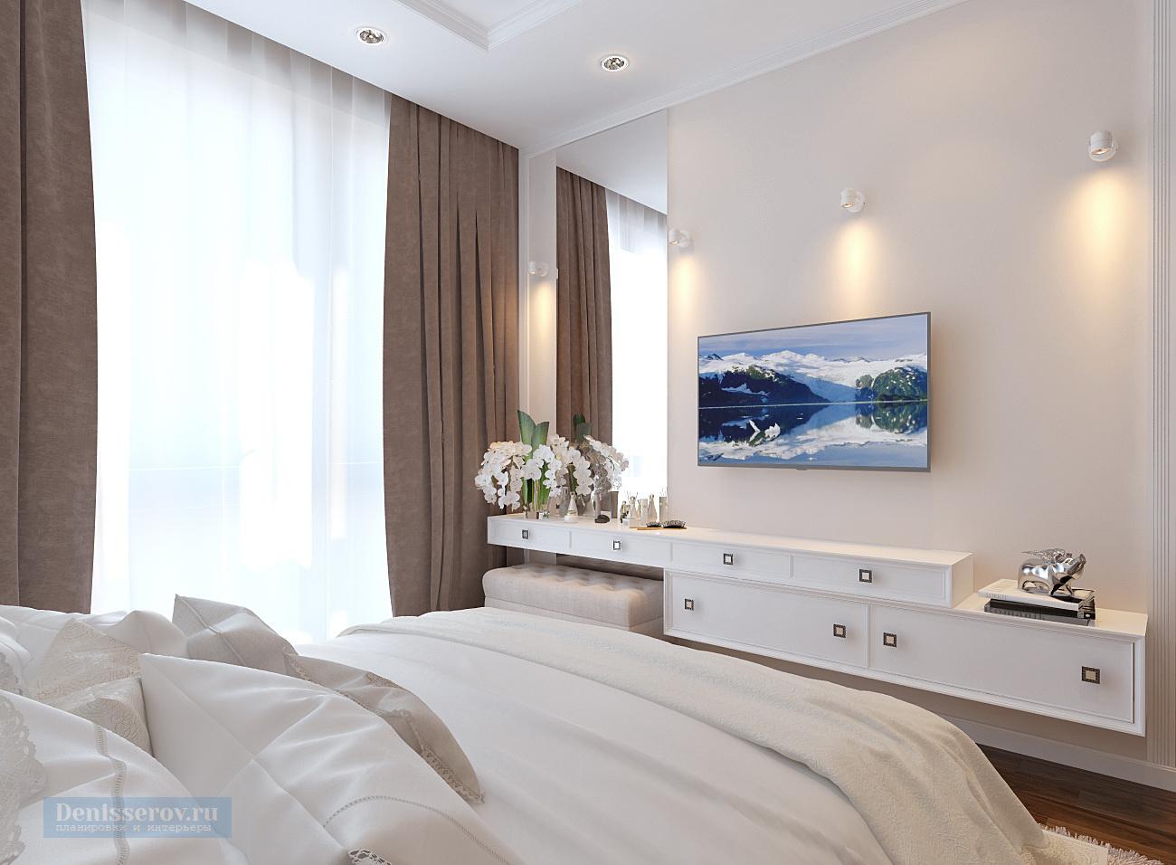 дизайн проект спальни 12 кв.м.