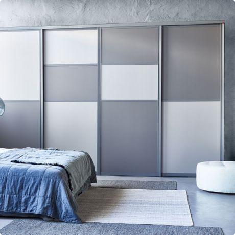 Шкаф-купе в спальной комнате, варианты с фото