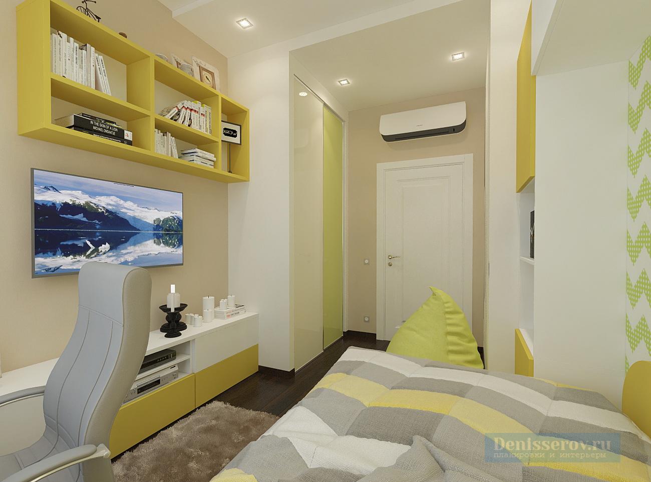 Детская комната 10 кв. м. - уютный и стильный 17