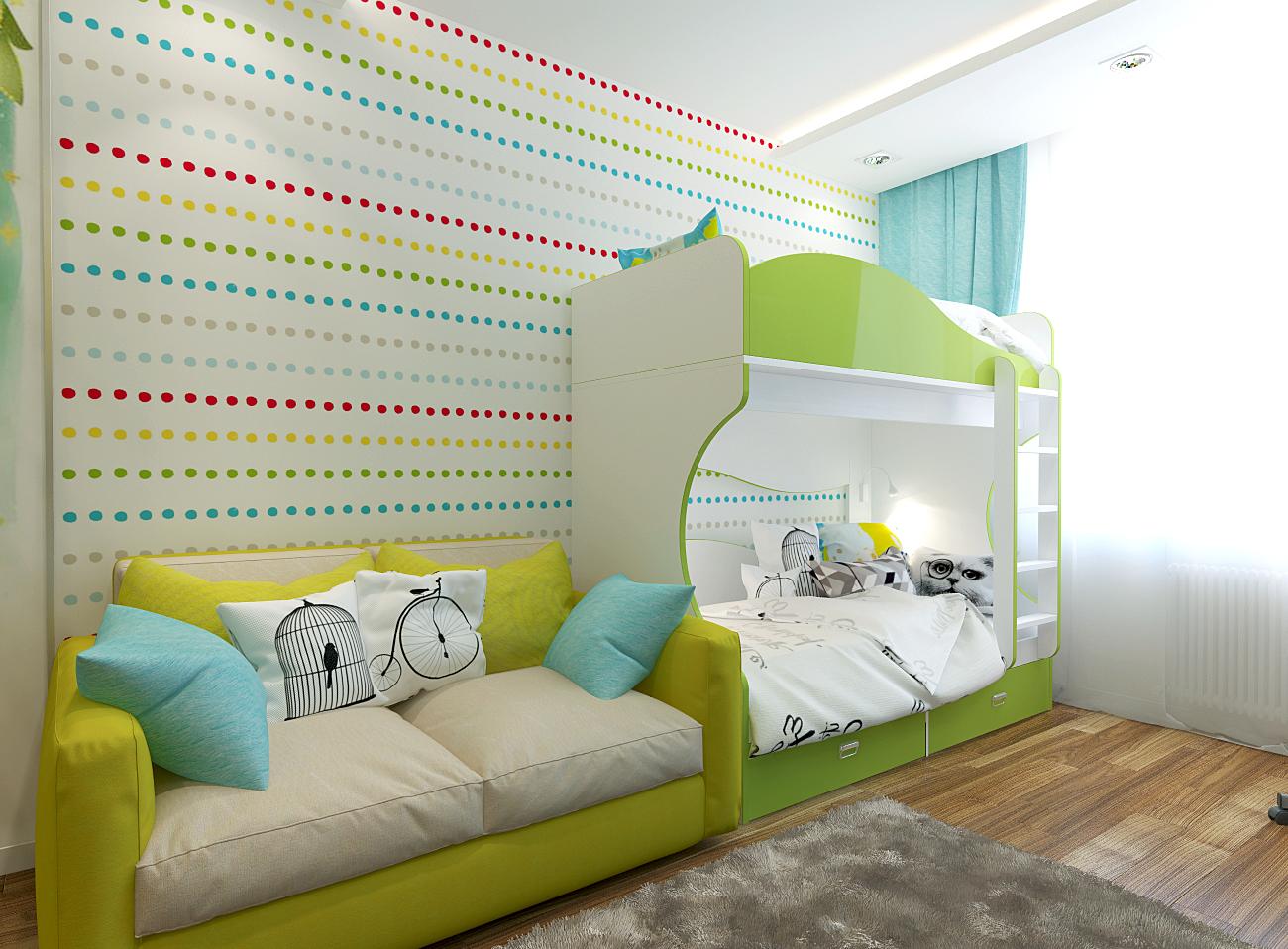 Детская комната на двоих детей фото