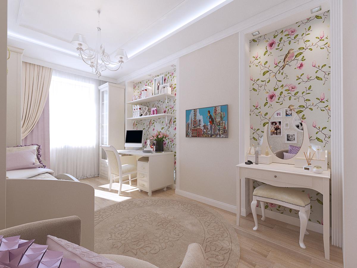 Дизайн комнаты для девочки 12 кв.м.: оформление, цвет - 75 ф.