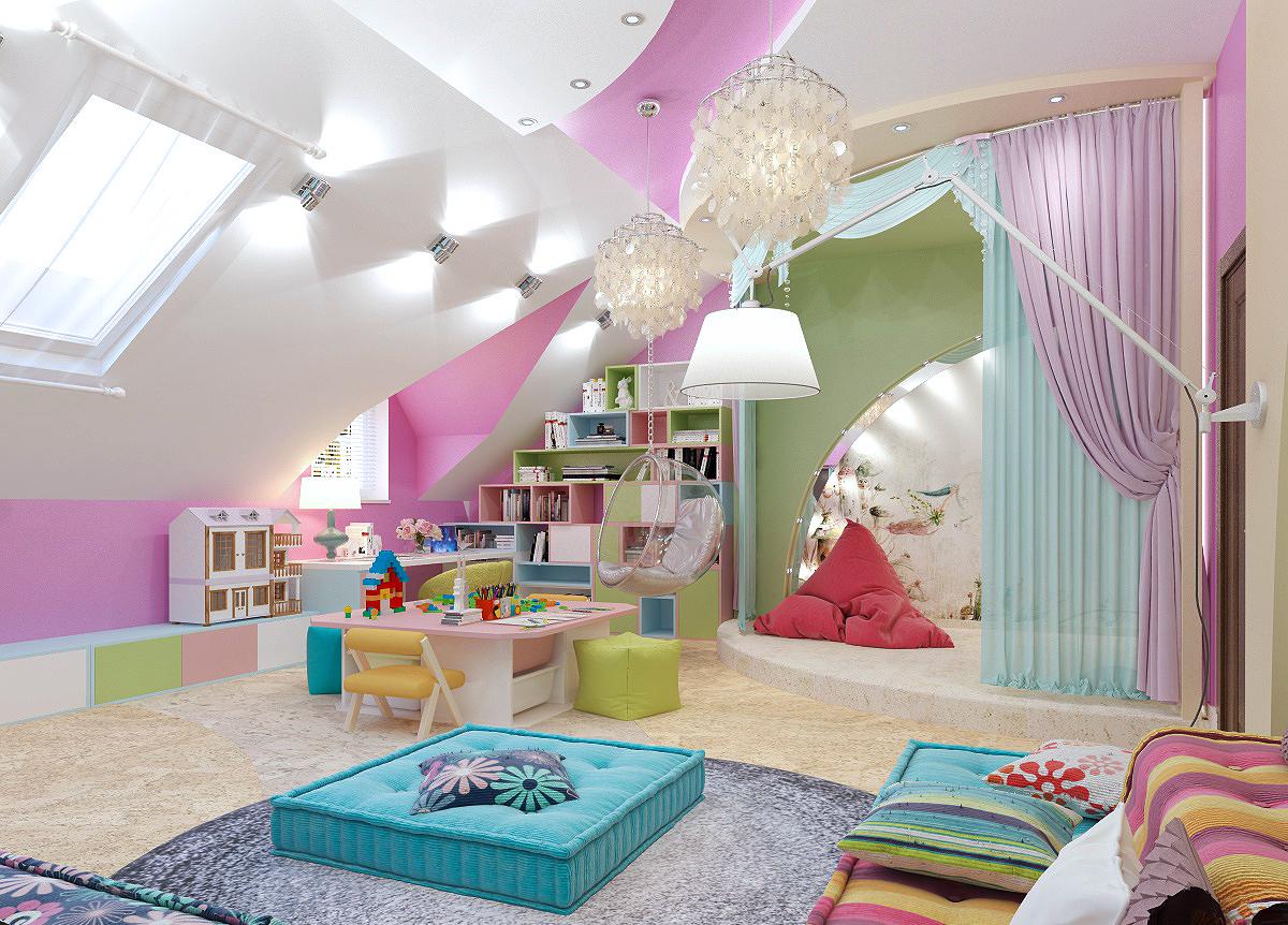 Дизайн игровая детской комнаты девочка