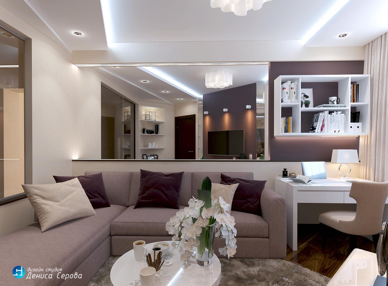 Дизайн — проект четырехкомнатной квартиры 120 кв.м. для семьи из Санкт — Петербурга