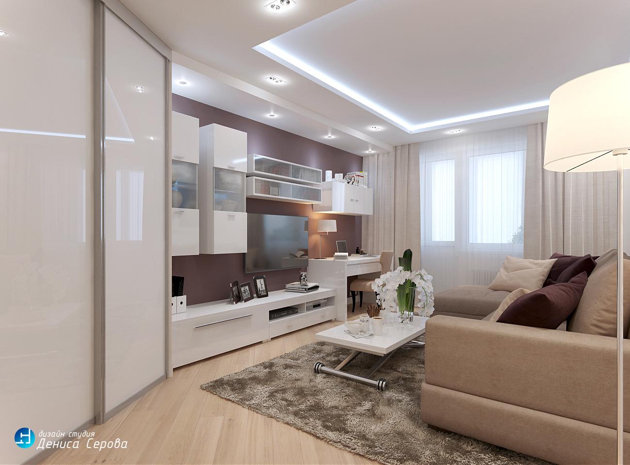 Дизайн-проект 3-комнатной квартиры площадью 75 кв. м