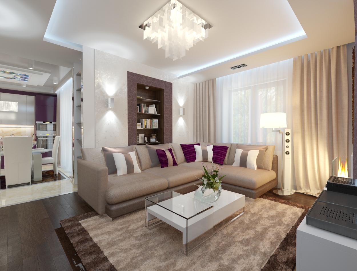 Дизайн — проект трехкомнатной квартиры 110 кв. м для семьи с двумя детьми