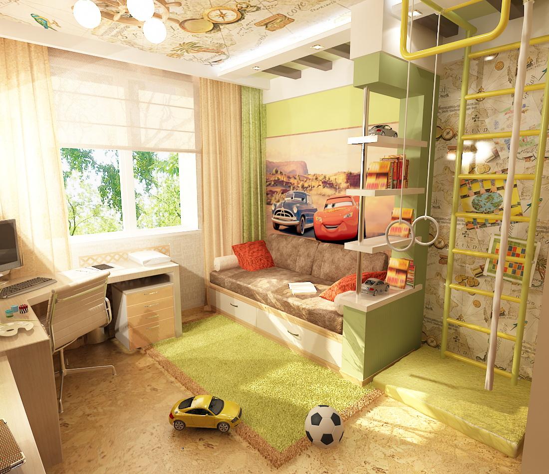 Детская комната 7 кв м дизайн фото