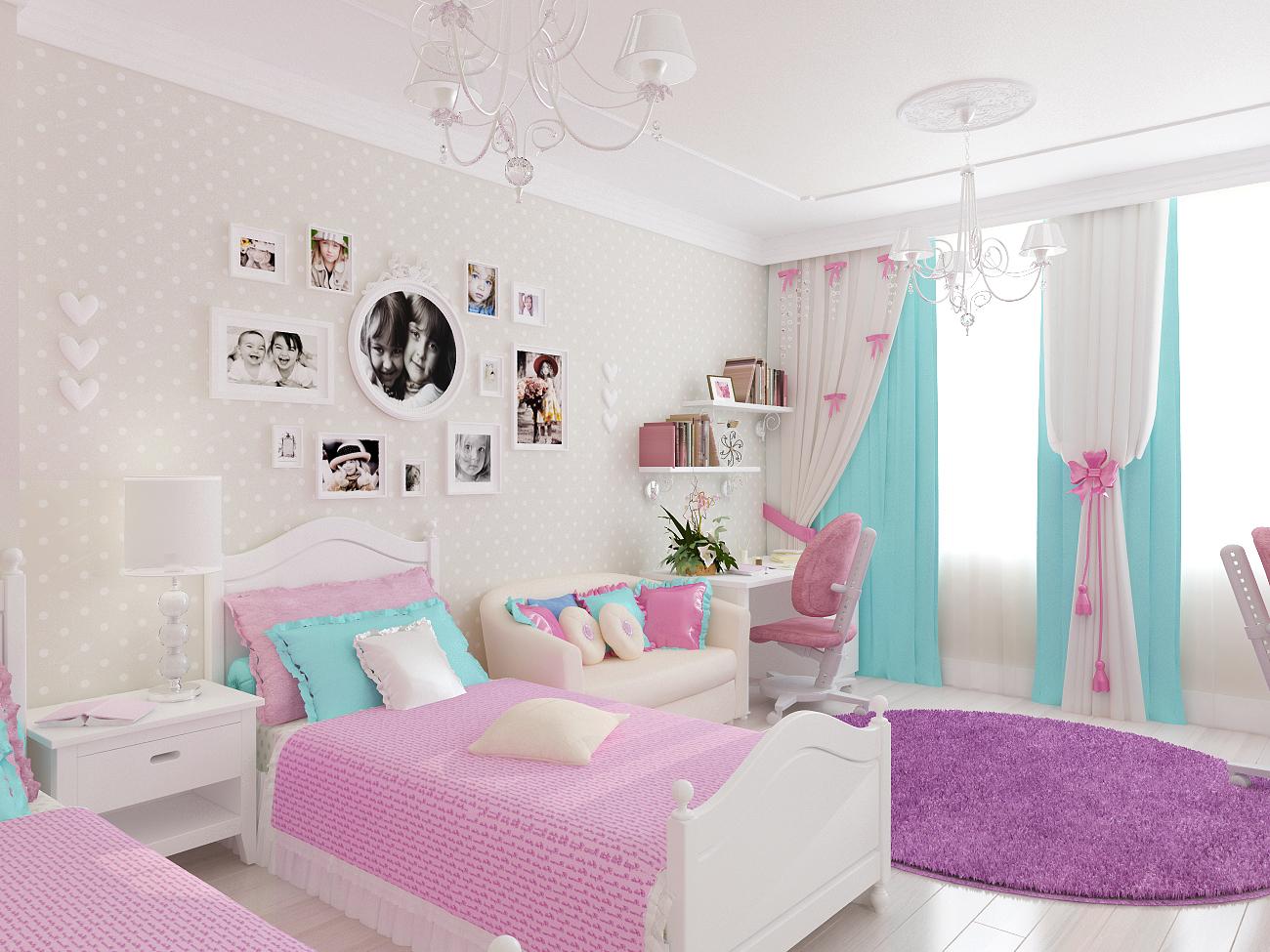 Прикроватная классическая настольная лампа с абажуром для спальни