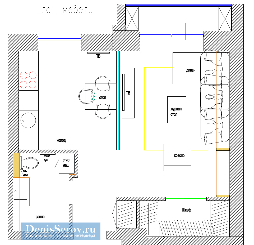 Дизайн квартиры в доме П-44Т