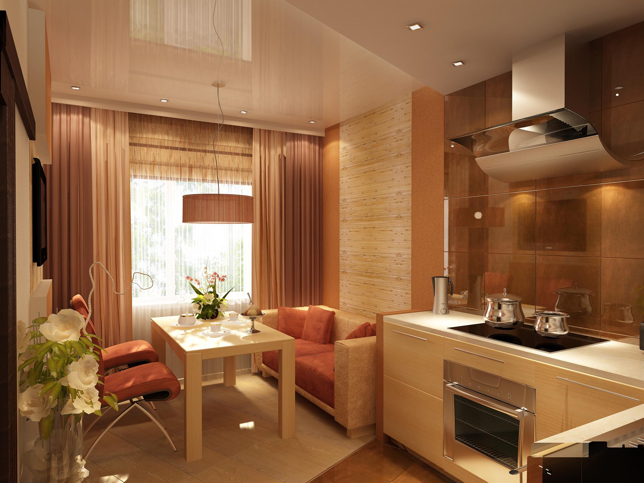 Дизайн кухни 9 кв м с балконом и диваном.