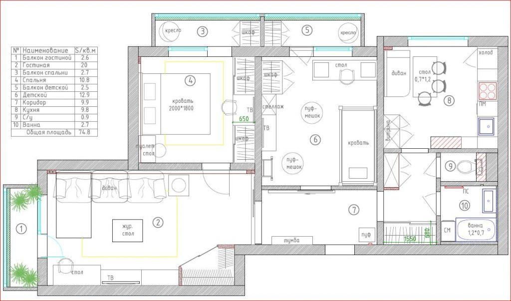 Перепланировка панельной квартиры - заказать услуги по