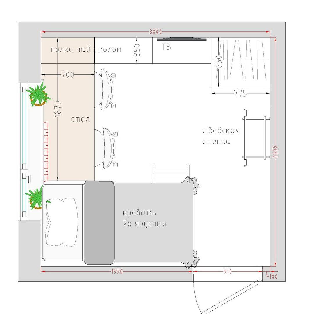 Идеи планировки детской комнаты для двух детей