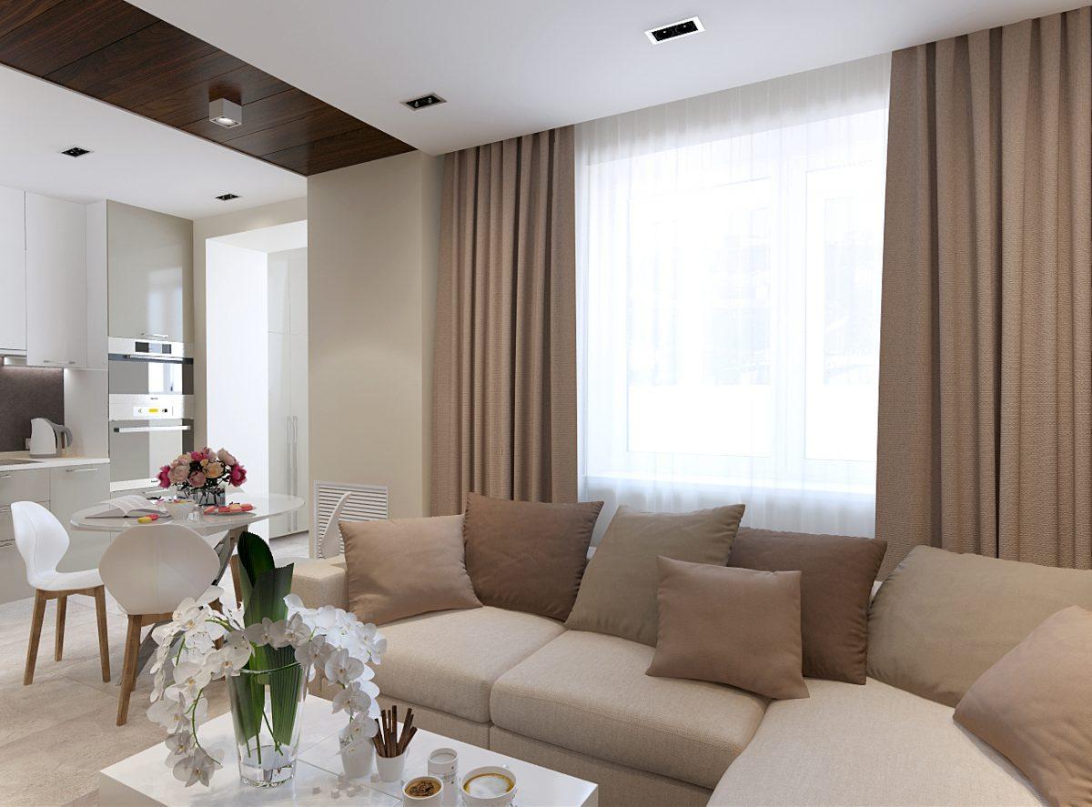Дизайн проект однокомнатной квартиры 47 кв.м.