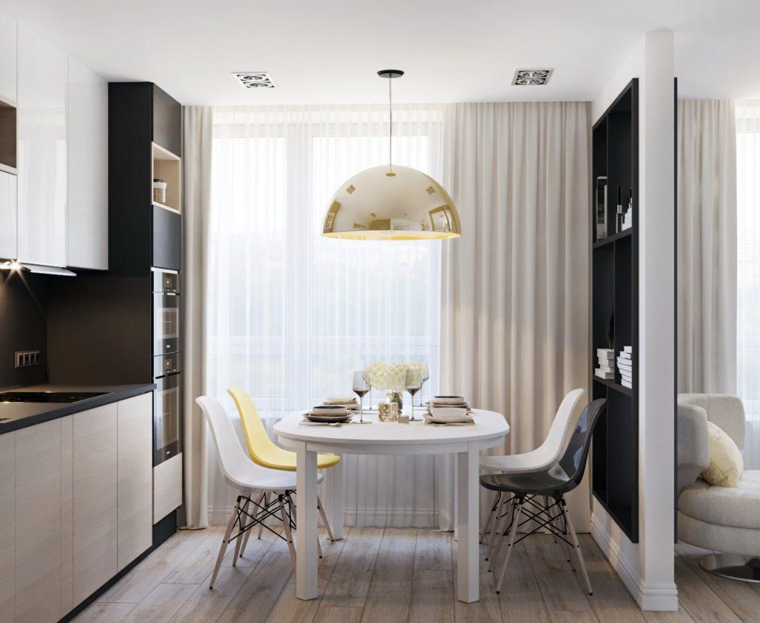 Дизайн-проект двухкомнатной квартиры 57кв.м.
