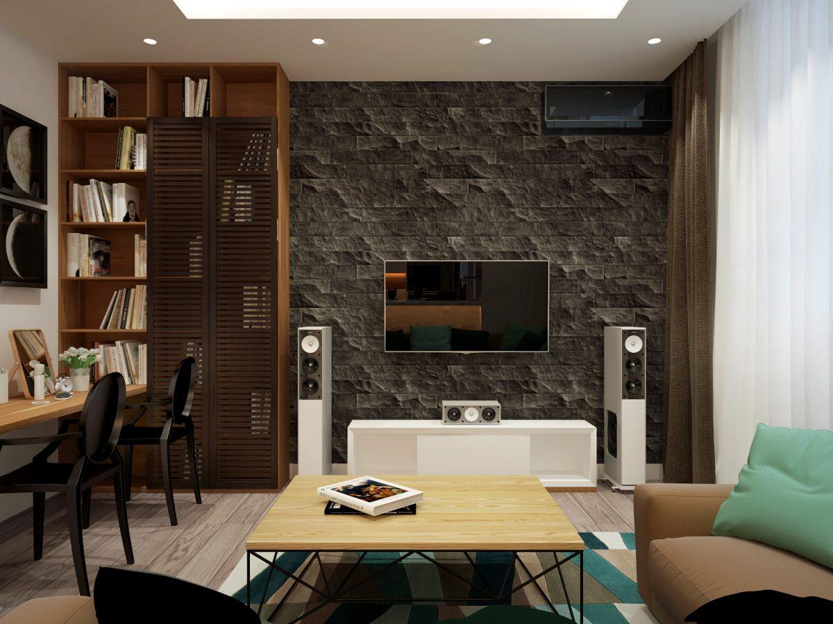 Дизайн проект однокомнатной квартиры 45 кв.м.
