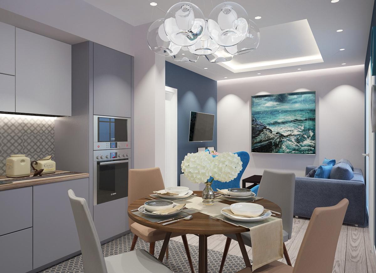 Дизайн-проект трехкомнатной квартиры 69 кв.м.
