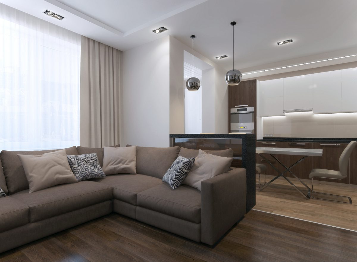 Дизайн-проект двухкомнатной квартиры 68 кв.м.
